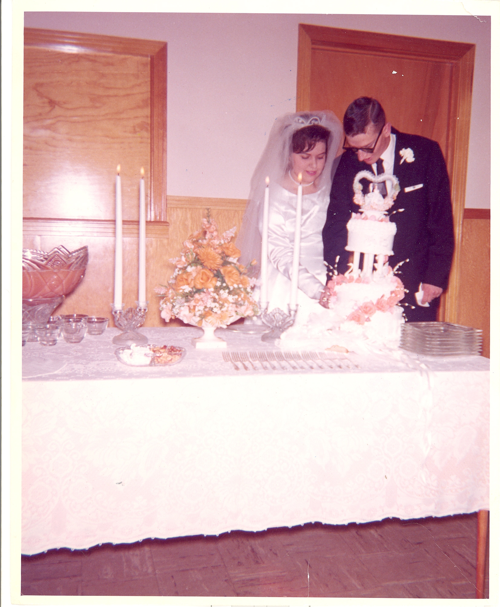 Larry & Patsy at their wedding